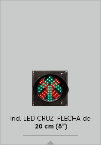 "Industrial LED Cruz-Flecha de 20 cm (8"")"